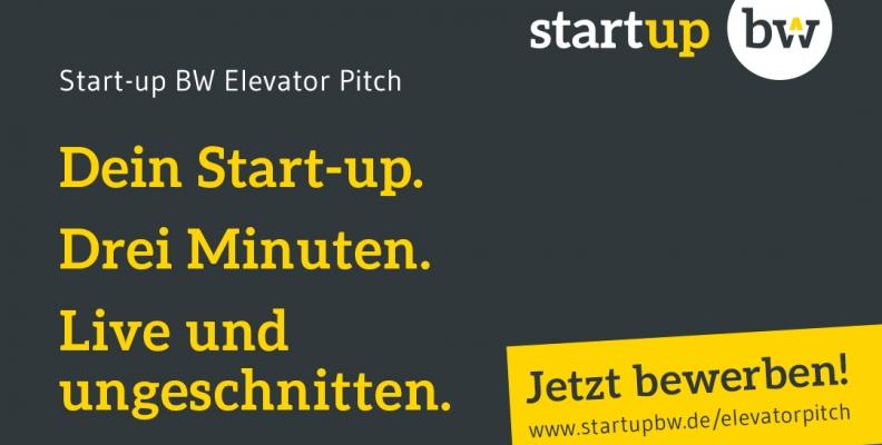 Auf die Plätze, fertig, los! Der Start-up BW Elevator Pitch startet neue Runde